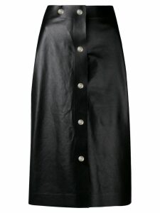 Victoria Beckham midi leather skirt - Black