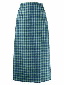 Balenciaga high slit skirt - Blue