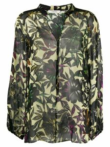 Dorothee Schumacher sheer floral blouse - Green