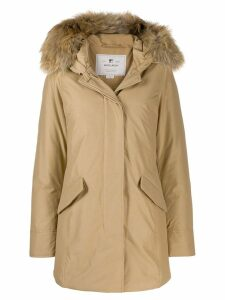 Woolrich hooded parka coat - NEUTRALS