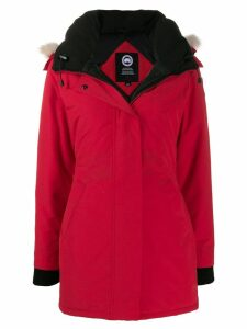 Canada Goose padded hooded jacket - Red