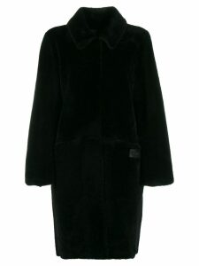 Fendi straight fur coat - Black