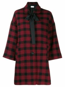 Red Valentino checked oversized coat