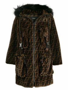 Fendi ff hooded parka - Brown