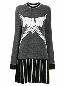 Off-White Swans-knit dress - Black