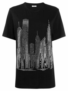 P.A.R.O.S.H. round neck embellished t-shirt - Black