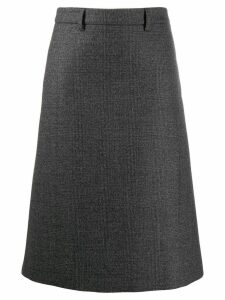 Prada checked A-line skirt - Grey