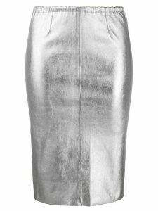 Zadig & Voltaire metallic pencil skirt - SILVER