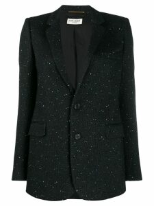 Saint Laurent glitter tailored blazer - Black
