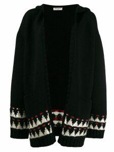 Saint Laurent hooded knitted cardigan - Black
