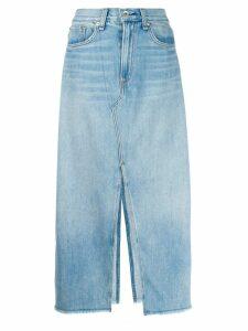 Rag & Bone front slit skirt - Blue