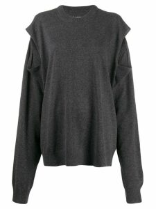 Maison Margiela shoulder slit sweater - Grey