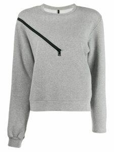 Unravel Project zipper shoulder sweater - Grey