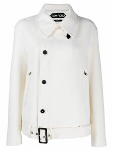 Tom Ford belted loose-fit jacket - White
