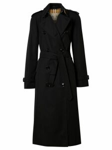 Burberry Cotton Gabardine Trench Coat - Black