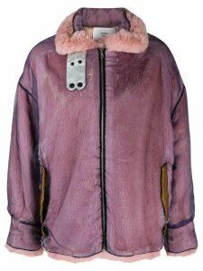 Quetsche zipped oversized jacket - Purple