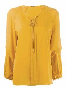 Luisa Cerano front tie blouse - Yellow