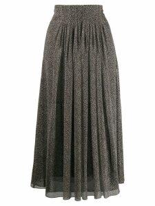 Luisa Cerano leopard print flared skirt - Grey