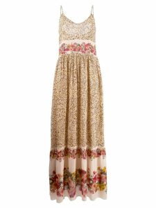 Twin-Set printed maxi dress - Brown