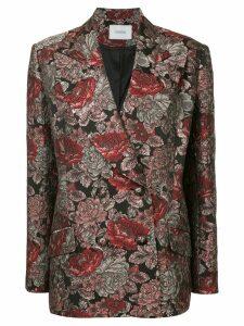 Erdem baroque pattern blazer - Black