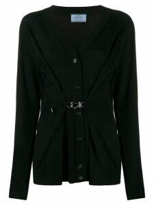 Prada buckle detail cardigan - Black