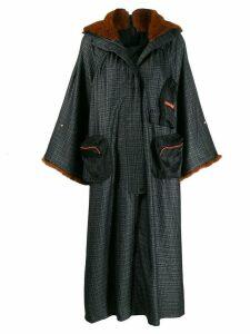 Quetsche oversized hooded coat - Black
