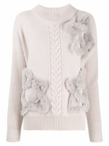 Lorena Antoniazzi star appliqué sweater - Grey