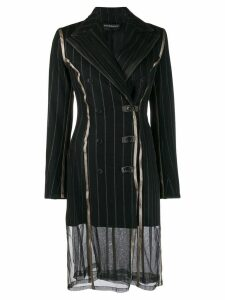 Y/Project pinstripe double-breasted coat - Black