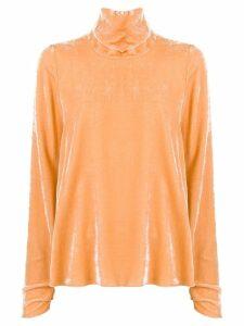 Forte Forte turtleneck velvet blouse - Yellow