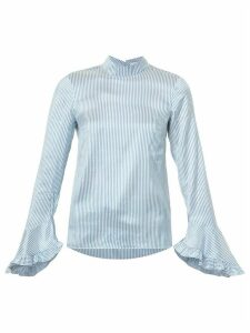 Erdem striped ruffled blouse - Blue