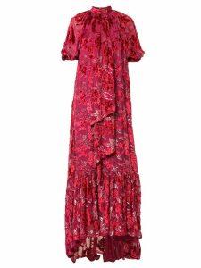Erdem floral velvet dress - Pink