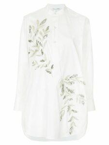 Oscar de la Renta crystal-embellished blouse - White