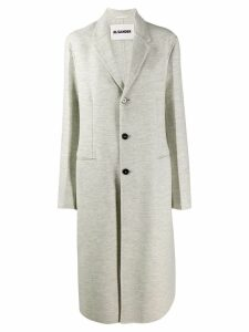 Jil Sander classic single-breasted coat - Grey