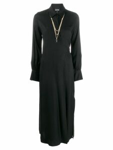 Just Cavalli wrap front shirt dress - Black