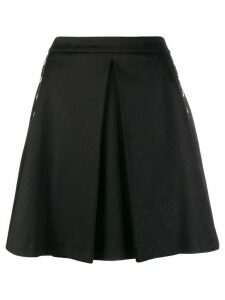 Versace Jeans Couture logo printed skirt - Black
