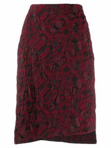 Issey Miyake pencil checkered skirt