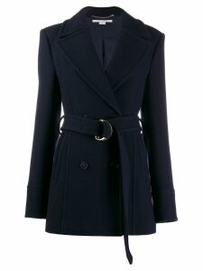 Stella McCartney double-breasted belted coat - Blue