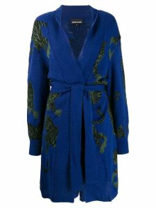 Just Cavalli knitted cardi-coat - Blue