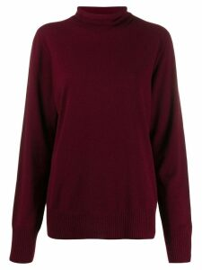 Maison Margiela roll neck sweater - Red