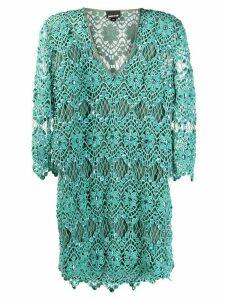 Just Cavalli embellished crochet shift dress - Green