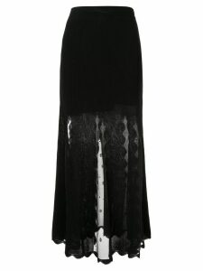 Alexander McQueen Ottoman knit skirt - Black