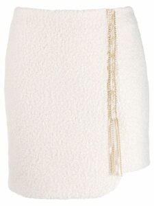 Just Cavalli asymmetrical skirt - White