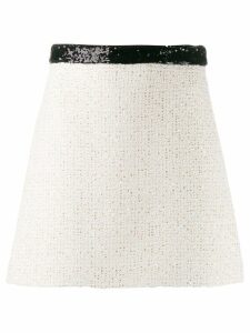 Miu Miu tweed effect A-line skirt - NEUTRALS