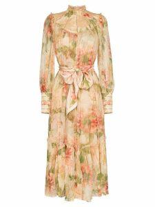 Zimmermann floral print swing midi dress - Multicolour