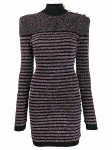 Balmain multicoloured knitted dress - Black