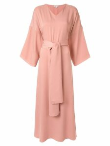 Layeur wide sleeve maxi dress - Pink