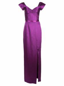 Marchesa Notte satin gown - Purple