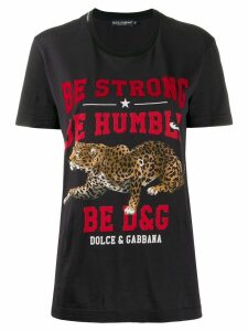 Dolce & Gabbana Be Strong Be Humble T-shirt - Black