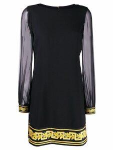 Versace Baroque print shift dress - Black