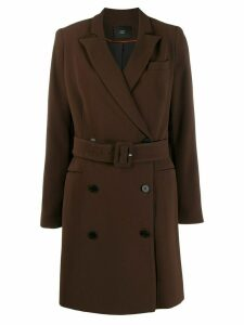 Steffen Schraut double breasted coat - Brown